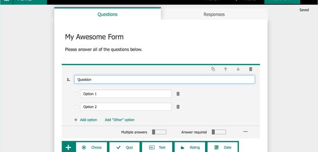 Nieuw: Maak eenvoudig formulieren met Office 365 Forms