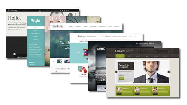 Maak een keuze uit duizenden kant-en-klare designs voor uw website.